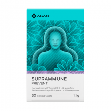 Agan Samcos Suprammune Prevent Για Προστασία και Αντιμετώπιση του Κρυολογήματος της Γρίπης και των Εποχικών Ιώσεων 30μασώμενες tabs