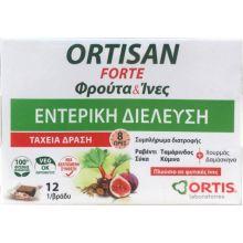Ortis Ortisan Forte Fruits & Fibres Intestinal Transit 12 ΦρουτοΚυβοι