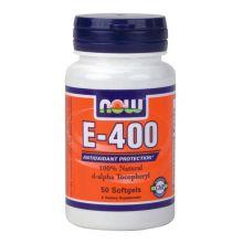 Now Natural E-400 Συμπλήρωμα Διατροφής Για Αντιοξειδωτικη Προστασία 50 softgels