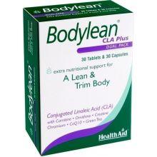 Health Aid Bodylean CLA plus Lean & Trim Body Συμπλήρωμα Διατροφής για Λεπτό & Σφριγηλό Σώμα 30tabs 30caps
