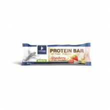 Myelements Protein Bar 31% Protein 8 vitamins Μπάρα Πρωτεΐνης με γεύση Φράουλα και Λευκή Σοκολάτα 60gr