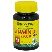 Natures Plus Vitamin D3 2500 IU 90caps