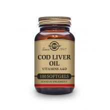 Solgar Cod Liver One A Day Vitamins a&d Supplement 100 Softgels