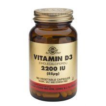 Solgar Vitamin D3 2200IU (55μg) 100Vegicaps