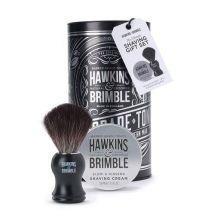 Hawkins & Brimble Shawing Gift Set (Platinum)  (Shawing cream100ml/ Synthetic Shaving Brush)