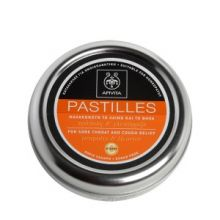 APIVITA - PASTILLES Παστίλιες για τον πονεμένο λαιμό και το βήχα με γλυκόριζα & πρόπολη 45g