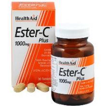 HEALTH AID - Balanced Ester C plus 1000mg tablets 60s