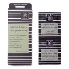 Apivita - Express Beauty Μάσκα για Βαθύ Καθαρισμό με πράσινο άργιλο 2x8ml