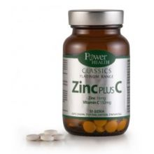 Power Health - Classics Platinum Range Zinc Plus C 16mg Vitamin C 150mg