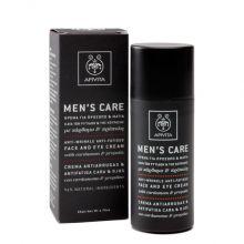 Apivita Men's Care Κρέμα Για το Πρόσωπο & τα Μάτια Κατά Των Ρυτίδων & Της Κούρασης με κάρδαμο & πρόπολη 50ml