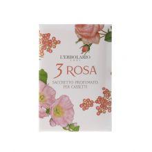 L'Erbolario 3 Rosa Sacchetto Profumato per Cassetti Αρωματικά Σακουλάκια για Συρτάρια