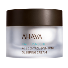 Ahava Age Control Even Tone Sleeping Cream Κρέμα νύχτας που Ενυδατώνει και Θρέφει το δέρμα 50ml