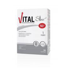 Vital Silver 50+ Συμπλήρωμα Διατροφής για Ενέργεια & Τόνωση με Αντιοξειδωτική Προστασία 30caps