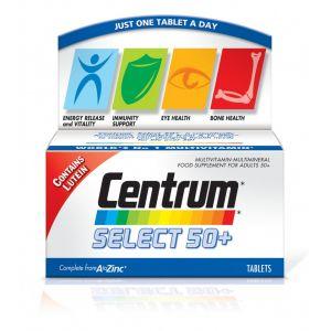 Centrum Select 50+ Συμπλήρωμα Διατροφής Με Βιταμίνες Και Μεταλλικά Στοιχεία Για Ενήλικες 50 Ετων Και άνω 30 δισκία