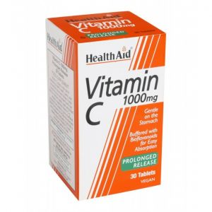 Health Aid Vitamin C 1000mg Prolonged Release Συμπλήρωμα Διατροφής με Βιταμίνη C 30tabs